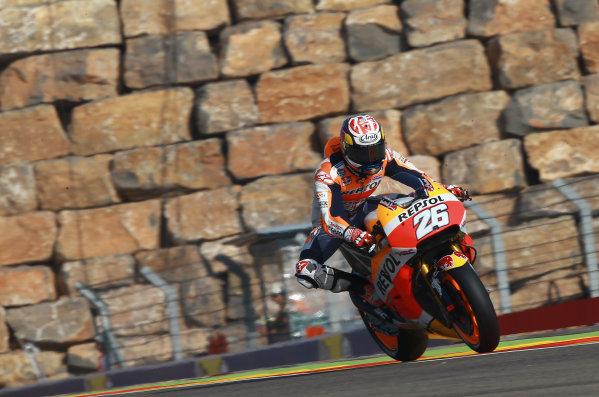 2017 MotoGP Championship - Round 14 Aragon, Spain. Saturday 23 September 2017 Dani Pedrosa, Repsol Honda Team World Copyright: Gold and Goose / LAT Images ref: Digital Image 694201
