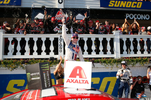 Monster Energy NASCAR Cup Series AXALTA presents the Pocono 400 Pocono Raceway, Long Pond, PA USA Sunday 11 June 2017 Ryan Blaney, Wood Brothers Racing, Motorcraft/Quick Lane Tire & Auto Center Ford Fusion World Copyright: Russell LaBounty LAT Images