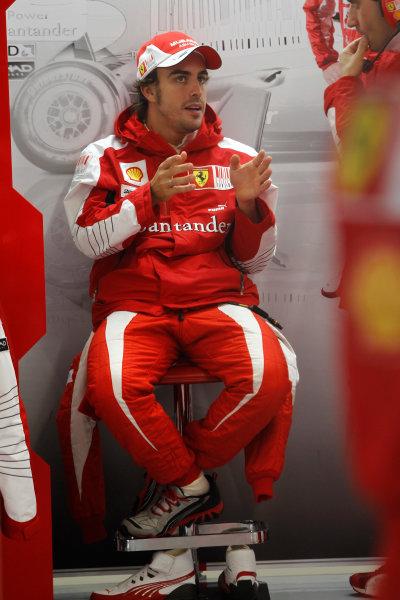 Suzuka Circuit, Suzuka, Japan. 9th October 2010. Fernando Alonso, Ferrari F10. Portrait.  World Copyright: Andrew Ferraro/LAT Photographic ref: Digital Image _Q0C8999