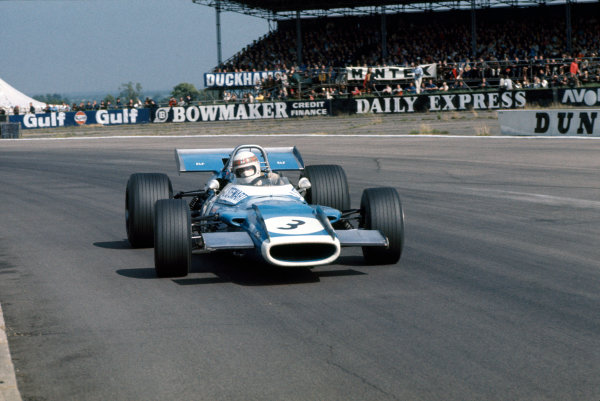 Silverstone, Great Britain. 19th July 1969.Jackie Stewart (Matra MS80-Ford), 1st position, action.World Copyright: LAT Photographic.Ref: Colour Transparency.