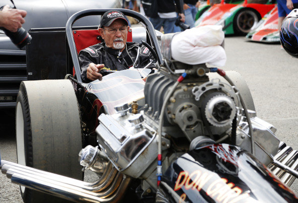 2015 Goodwood Festival of Speed.  Goodwood Estate, West Sussex, England. 25th - 28th June 2015.  Don Garlits.  Ref: KW5_3542a. World copyright: Kevin Wood/LAT Photographic