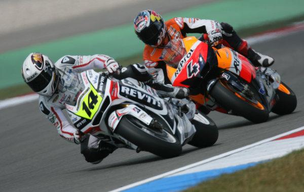 Holland Assen 24-26 JuneRandy de Puniet LCR Honda leads Andrea Dovizioso