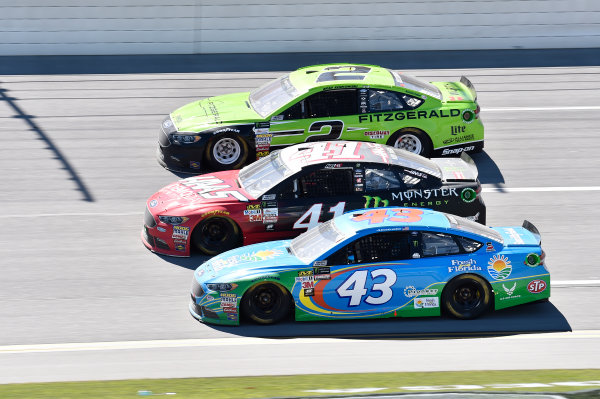 Monster Energy NASCAR Cup Series GEICO 500 Talladega Superspeedway, Talladega, AL USA Sunday 7 May 2017 Brad Keselowski, Team Penske, Fitzgerald Glider Kits Ford Fusion, Kurt Busch, Stewart-Haas Racing, Haas Automation/Monster Energy Ford Fusion, Aric Almirola, Richard Petty Motorsports, Fresh From Florida Ford Fusion World Copyright: John K Harrelson LAT Images ref: Digital Image 17TAL1jh_04634