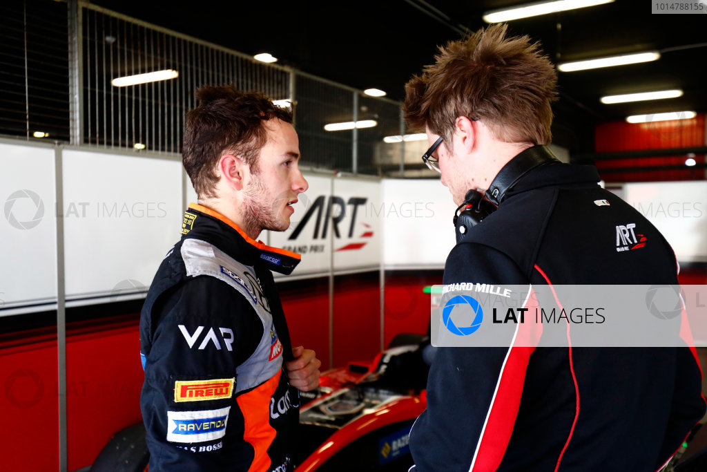 2016 GP3 Series Test 2. Circuit de Catalunya, Barcelona, Spain. Thursday 20 April 2017. Anthoine Hubert (FRA, ART Grand Prix)  Photo: Zak Mauger/GP3 Series Media Service. ref: Digital Image _56I5664