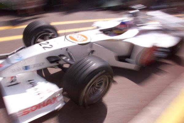 2000 Monaco Grand Prix.Monte Carlo, Monaco.1-4 June 2000.Jacques Villeneuve (B.A R. 002 Honda) 7th position.World Copyright - LAT Photographic