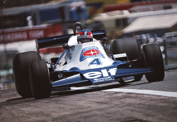Patrick Depailler, Tyrrell 008 Ford, during practice.