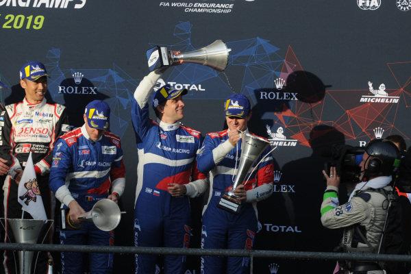 P1 Podium, #11 SMP Racing BR Engineering BR1: Mikhail Aleshin, Vitaly Petrov, Stoffel Vandoorne