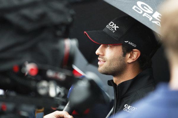 Felipe Nasr (BRA), GEOX Dragon Racing talks to the media