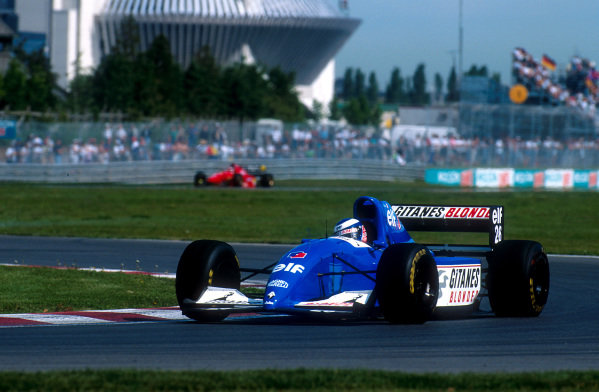 1994 Canadian Grand Prix.Montreal, Quebec, Canada.10-12 June 1994.Olivier Panis (Ligier JS39B Renault) 12th position.Ref-94 CAN 09.World Copyright - LAT Photographic