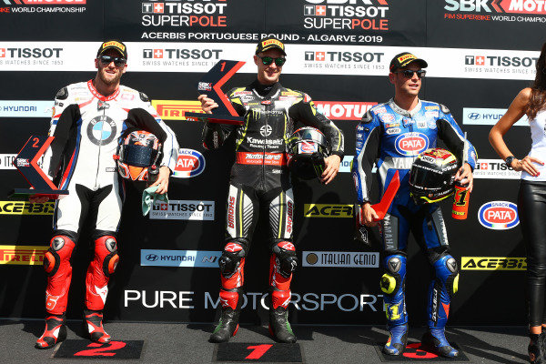 Tom Sykes, BMW Motorrad WorldSBK Team, Jonathan Rea, Kawasaki Racing Team, Sandro Cortese, GRT Yamaha WorldSBK.