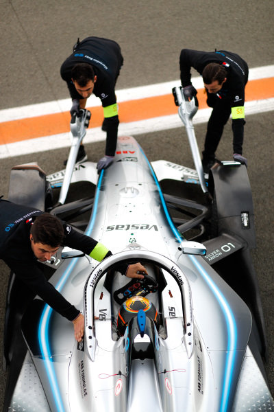 Stoffel Vandoorne (BEL), Mercedes Benz EQ Formula, EQ Silver Arrow 01, pushed back in garage