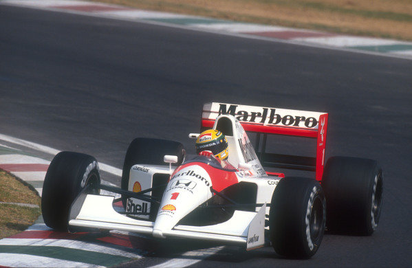 1991 Mexican Grand Prix.Mexico City, Mexico.14-16 June 1991.Ayrton Senna (McLaren MP4/6 Honda) 3rd position.Ref-91 MEX 15.World Copyright - LAT Photographic