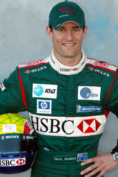2003 Australian Grand Prix Albert Park, Melbourne. Australia. 6th March 2003 Mark Webber, Jaguar R4, portrait.World Copyright: Steve Etherington/LAT Photographic ref: Digital Image Only