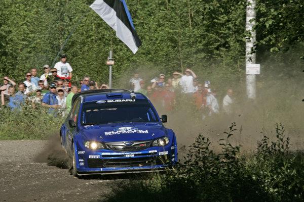 Round 09Neste Oli Rally Finland 200831/7-3/8  2008Chris Atkinson, Subaru WRC, Action