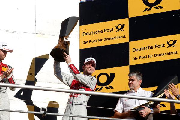 2017 DTM Round 9  Hockenheimring, Germany  Sunday 15 October 2017. Champions Podium: third place Jamie Green, Audi Sport Team Rosberg, Audi RS 5 DTM  World Copyright: Alexander Trienitz/LAT Images ref: Digital Image 2017-DTM-HH2-AT2-2188