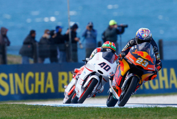 2017 Moto3 Championship - Round 16 Phillip Island, Australia. Friday 20 October 2017 Niccolo Antonelli, Red Bull KTM Ajo World Copyright: Gold and Goose / LAT Images ref: Digital Image 23280