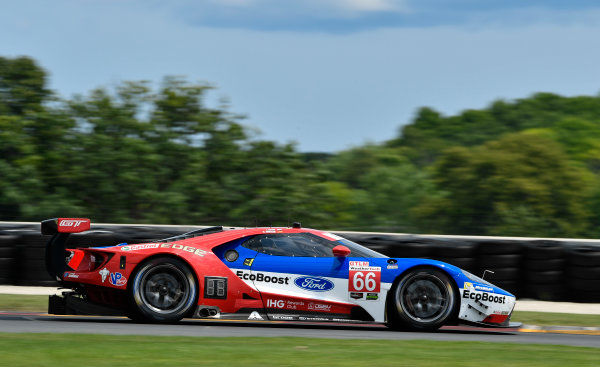IMSA WeatherTech SportsCar Championship Continental Tire Road Race Showcase Road America, Elkhart Lake, WI USA Saturday 5 August 2017 66, Ford, Ford GT, GTLM, Joey Hand, Dirk Muller World Copyright: Richard Dole LAT Images