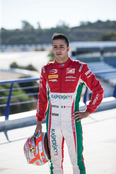 2017 FIA Formula 2 Round 10. Circuito de Jerez, Jerez, Spain. Thursday 5 October 2017. Antonio Fuoco (ITA, PREMA Racing).  Photo: Andrew Ferraro/FIA Formula 2. ref: Digital Image _FER8171