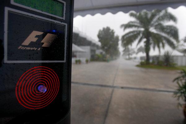 Sepang, Kuala Lumpur, Malaysia2nd April 2009A monsoon storm stirkes the paddock.World Copyright: Lorenzo Bellanca/LAT Photographicref: Digital Image _64I2204