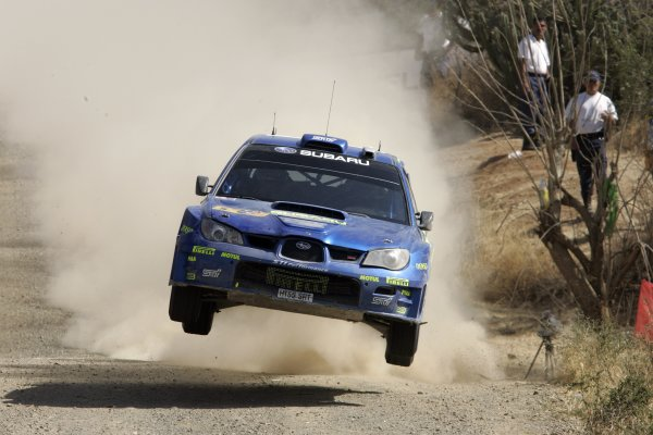 2006 FIA World Rally Champs. Round Three; Rally Mexico.; 2nd - 5th March 2006.Petter Solberg, Subaru, action. World Copyright: LAT/McKlein