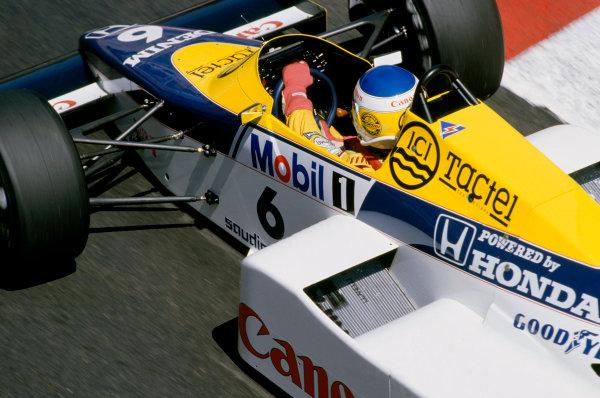 1985 Monaco Grand Prix.  Monte Carlo, Monaco 16-19th May 1985. Rd4.  Keke Rosberg, Williams FW10 Honda, 8th position.  Ref: 85MON37. World Copyright: LAT Photographic
