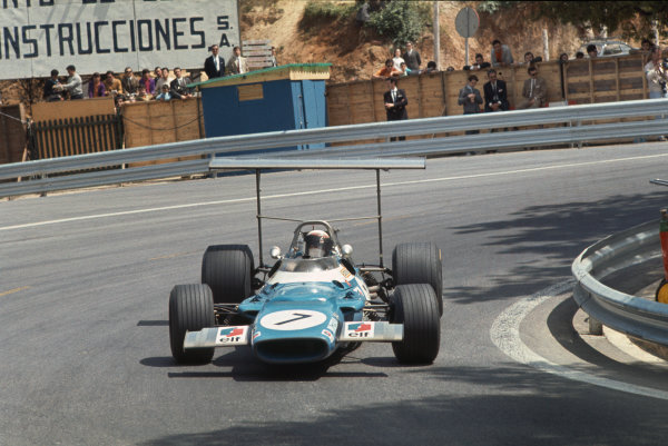 Montjuich Park, Barcelona, Spain. 2-4 May 1969.  Jackie Stewart (Matra MS80 Ford) 1st position.  Ref: 69ESP02. World Copyright: LAT Photographic