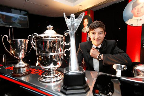 Sunday 2nd December 2012  2012 McLaren Autosport BRDC Young Driver of the Year Award winner Jake Dennis. World Copyright:Glenn Dunbar/  ref: Digital Image _89P1117