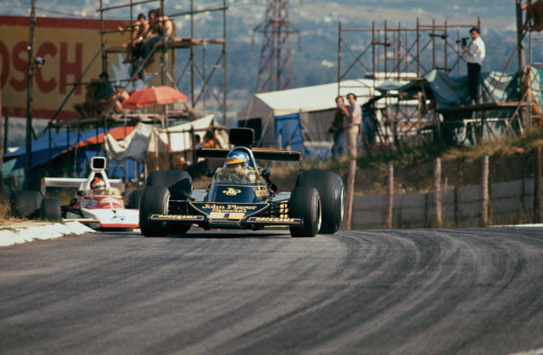 Kyalami, South Africa. 30 March 1974. Ronnie Peterson (Lotus 76-Ford), retired, action.  World Copyright: LAT Photographic. Ref:  74SA20