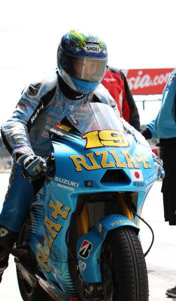 British Grand Prix. Silverstone, England. 10th-12th June 2011. Alvaro Bautista, Suzuki. Portrait. World Copyright: Kevin Wood/LAT Photographic. ref: Digital Image