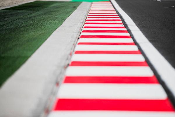 2017 FIA Formula 2 Round 7. Hungaroring, Budapest, Hungary. Thursday 27 July 2017. Kerb detail. Photo: Zak Mauger/FIA Formula 2. ref: Digital Image _54I0101