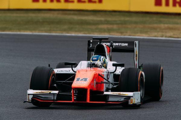 2017 FIA Formula 2 Round 6. Silverstone, Northamptonshire, UK. Sunday 16 July 2017. Sergio Sette Camara (BRA, MP Motorsport).  Photo: Malcolm Griffiths/FIA Formula 2. ref: Digital Image MALC7610