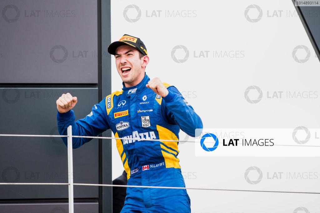 2017 FIA Formula 2 Round 6. Silverstone, Northamptonshire, UK. Sunday 16 July 2017. Nicholas Latifi (CAN, DAMS).  Photo: Zak Mauger/FIA Formula 2. ref: Digital Image _56I0727