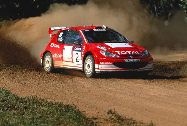 2003 World Rally ChampionshipRally Australia. 3rd - 7th September 2003Richard Burns/Michael Park (Peugeot 206 WRC), action.World Copyright: McKlein/LAT Photographicref: 35mm Image A14