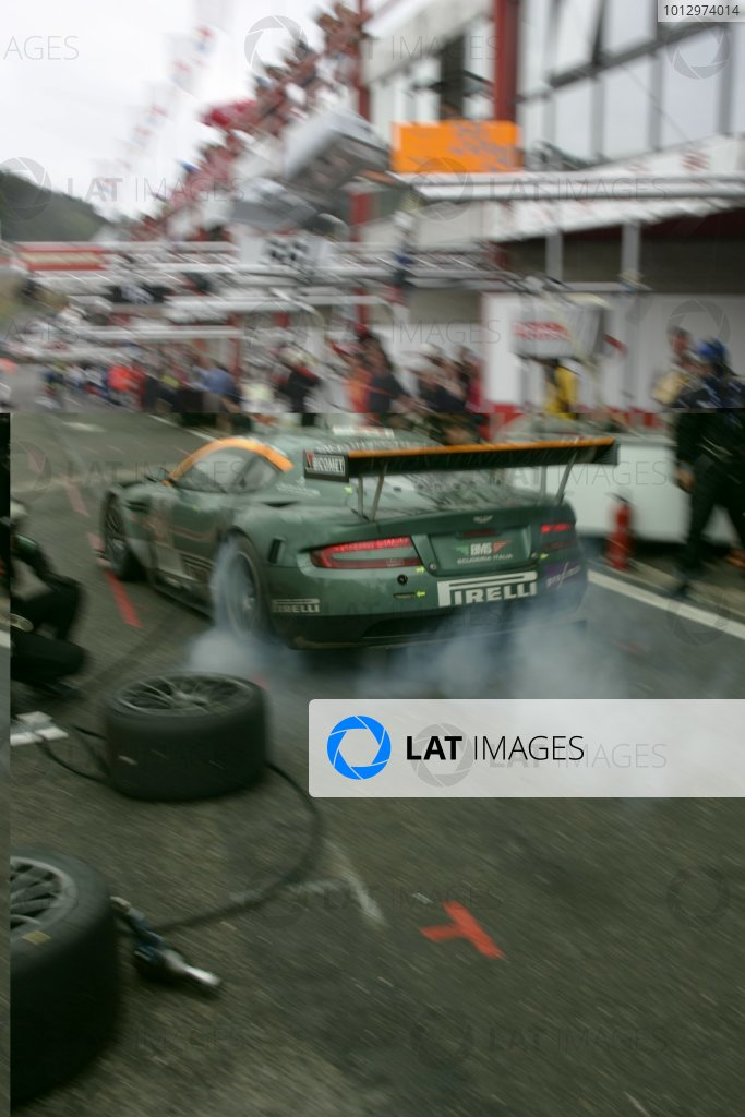 2006 FIA GT Championship.Spa - Francorchamps, France. 29th - 30th July.24 HoursChristian Pescatori/Fabio Babini/Thomas Enge/Peter Kox, (Aston Martin DBR9). Action.World Copyright: Alastair Staley/LAT Photographic ref: Digital Image _F6E9231