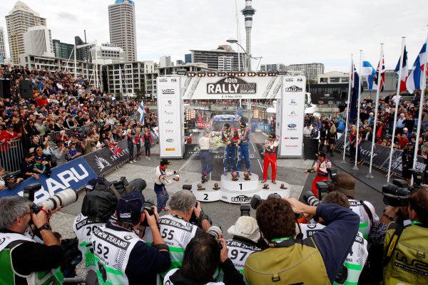 2010 FIA World Rally ChampionshipRound 05Rally New Zealand 7 - 9 May  2010Jari-Matti Latvala, Ford, podiumWorldwide Copyright: McKlein/LAT