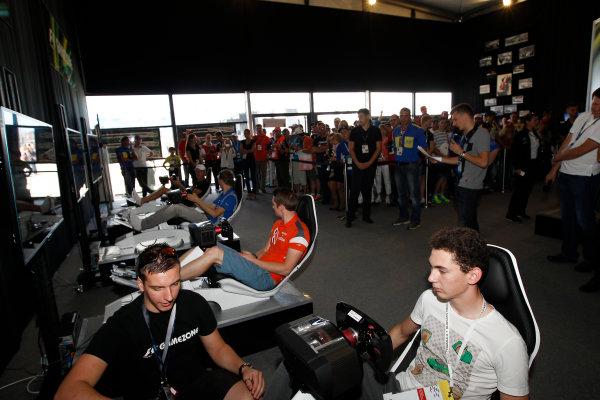 2014 GP3 Series. Round 8.   Sochi Autodrom, Sochi, Russia.  Friday 10 October 2014. Nelson Mason (CAN, Hilmer Motorsport) & Emil Bernstorff (GBR, Carlin)  Photo: Sam Bloxham/GP3 Series Media Service. ref: Digital Image _G7C4562