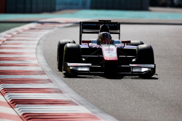 2017 FIA Formula 2 Round 11. Yas Marina Circuit, Abu Dhabi, United Arab Emirates. Friday 24 November 2017. Nabil Jeffri (MAS, Trident).  Photo: Sam Bloxham/FIA Formula 2. ref: Digital Image _W6I2112