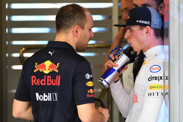 Max Verstappen (NED) Red Bull Racing and Gianpiero Lambiase (ITA) Red Bull Racing Race Engineer