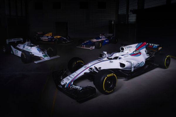 Williams Martini Racing FW40 Mercedes Launch. Grove, Oxfordshire, United Kingdom. February, 2017. The Williams FW40 Mercedes pre-test photo shoot. Photo: Drew Gibson/Williams Ref: Heritage 001 - 18
