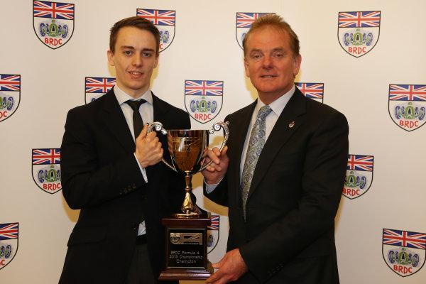 2013 BRDC Awards,2nd December 2013, Grand Connaught Rooms, London, England,Jake Hughes (GBR) with Jonathan PalmerWorld Copyright. Jakob  Ebrey/LAT Photographic