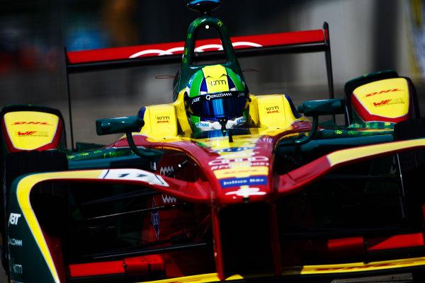 2016/2017 FIA Formula E Championship. Hong Kong ePrix, Hong Kong, China. Sunday 9 October 2016. Lucas Di Grassi (BRA), ABT Schaeffler Audi Sport, Spark-Abt Sportsline, ABT Schaeffler FE02.  Photo: Zak Mauger/LAT/Formula E ref: Digital Image _L0U1411