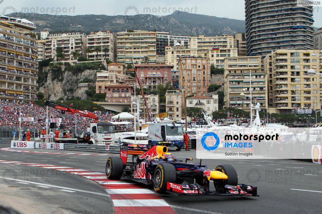 Race winner Mark Webber (AUS) Red Bull Racing RB8. Formula One World Championship, Rd6, Monaco Grand Prix, Race Day, Monte-Carlo, Monaco, Sunday 27 May 2012. BEST IMAGE