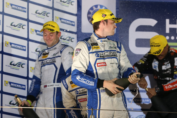 2015 FIA World Endurance Championship, Bahrain International Circuit, Bahrain. 19th - 21st November 2015. Matthew Howson / Richard Bradley / Nick Tandy KCMG Oreca 05 Nissan World Copyright: Jakob Ebrey / LAT Photographic.
