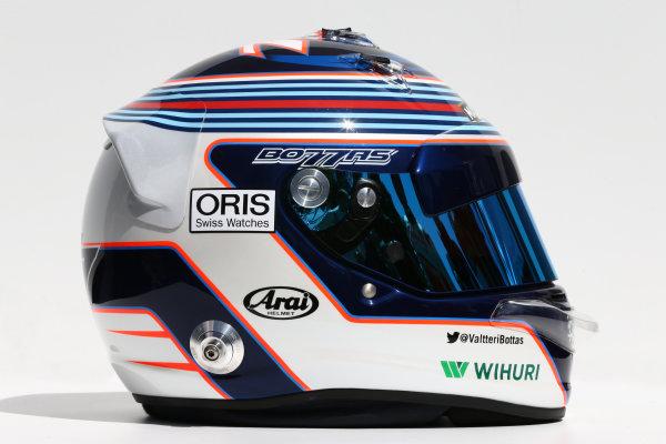 Albert Park, Melbourne, Australia. Thursday 13 March 2014. The helmet of Valtteri Bottas (FIN) Williams. World Copyright: xpb Images/LAT Photographic. ref: Digital Image 2014helmets19