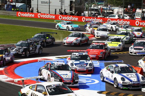 Some chicane hopping at the start of the race.
