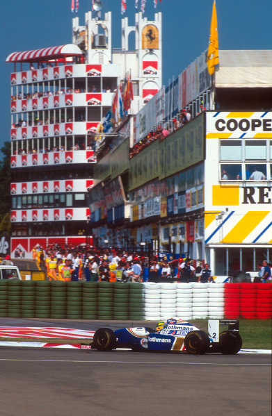 Imola, Italy.29/4-1/5 1994.Ayrton Senna (Williams FW16 Renault). He was tradgically killed after an accident on the start of lap 7.Ref-94 SM 35.World Copyright - LAT Photographic