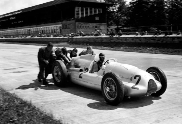 Nurburgring, Germany. 23rd July 1939.Tazio Nuvolari (Auto Union D), retired, action. World Copyright: LAT Photographic.Ref:  39GERRF