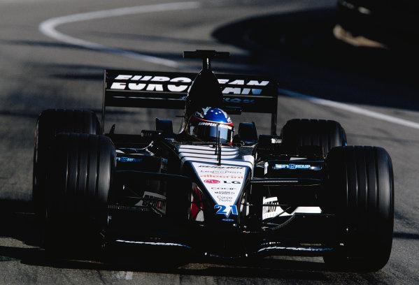 2001 Monaco Grand Prix.Monte Carlo, Monaco. 24-27 May 2001.Fernando Alonso (Minardi PS01 European).Ref-01 MON 25.World Copyright - Clive Rose/LAT Photographic