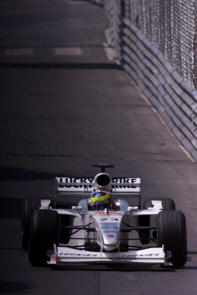 2000 Monaco Grand Prix.Monte Carlo, Monaco.1-4 June 2000.Ricardo Zonta (B.A R. 002 Honda).World Copyright - LAT Photographic