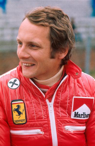 1975 Belgian Grand Prix.Zolder, Belgium.23-25 May 1975.Niki Lauda (Ferrari 312T) 1st position.Ref-75 BEL 04.World Copyright - LAT Photographic